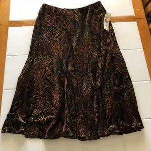Velvet paisley skirt